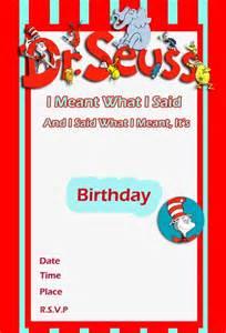 dr seuss birthday invitation free template 2 invitations