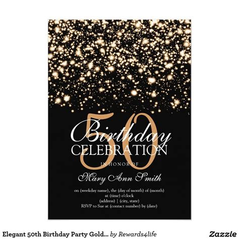 50th birthday invitation cards best 25 50th birthday invitations ideas on