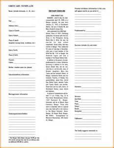 blank obituary templates www imgkid com the image kid