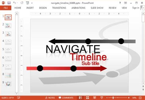 Animated Custom Timeline Template For Powerpoint Animated Timeline Powerpoint Template