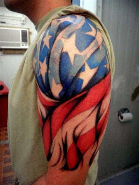 american flag shoulder tattoos 50 patriotic tattoos ideas