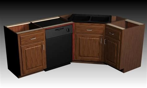 corner kitchen sink cabinets woodworking build corner sink base cabinet plans pdf