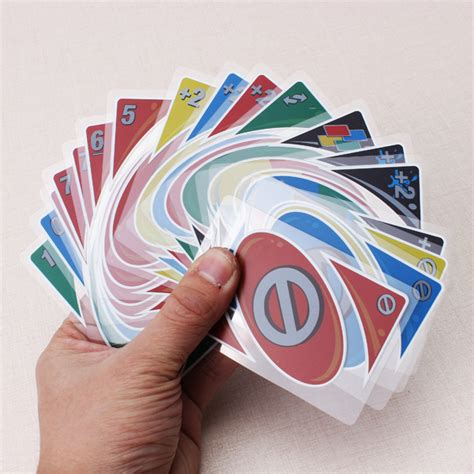 how to make uno cards plastic transparent waterproof uno card family