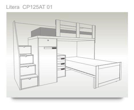 mesita de noche para litera litera de dos camas con escalones armario y mesita de