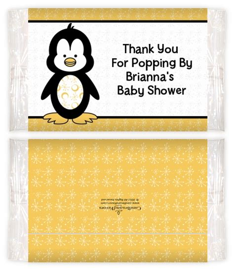 Baby Shower Popcorn Wrappers by Penguin Baby Shower Popcorn Wrappers Baby Shower Popcorn