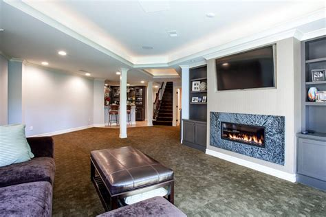 fireplace with built in cabinets basement fireplace basement traditional with built in