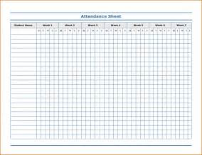 attendance sheet template 8 attendance sheet template authorizationletters org