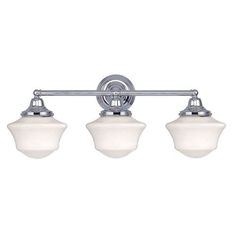 3 light bathroom fixtures schoolhouse bathroom light with three lights in chrome