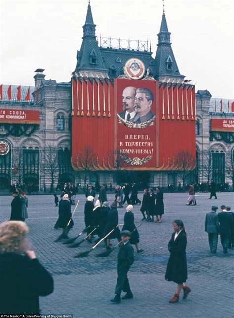 soviet union iron curtain incredible photos show daily life in 1950s soviet union
