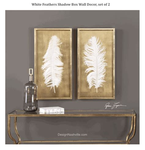 Shadow Box Wall Decor by White Feathers Shadow Box Wall Decor Set Of 2