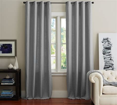 emery drapes emery linen cotton grommet drape pottery barn