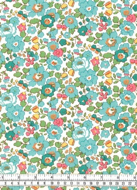 fabric pattern love liberty fabric betsy turquoise 23in x 54in liberty
