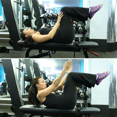 weight bench ab exercises ab exercises on a weight bench popsugar fitness