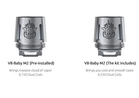 Baut Plus M2 Rda Rta Rdta Atomizer Tank Replacement 1 smok v8 baby m2 coil 0 25 ohm enjoy e ireland best electronic cigarette and