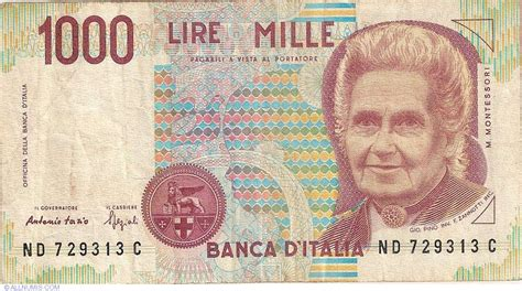 lire mille d italia 1 000 lire 1990 1990 issue bank of italy d