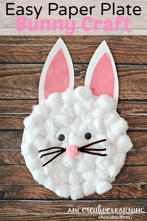 Easy Paper Plate Crafts - easy paper plate bunny craft for