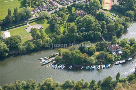 thames river islet aerial view d oyly carte island river thames jason hawkes