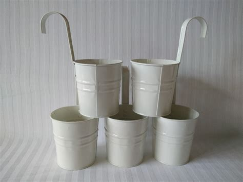 hanging flower pot hooks white color metal plant flower pot hook planter hanging