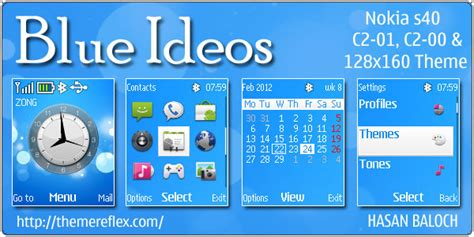 themes nokia mobile c1 blue ideos theme for nokia c1 01 c2 00 themereflex