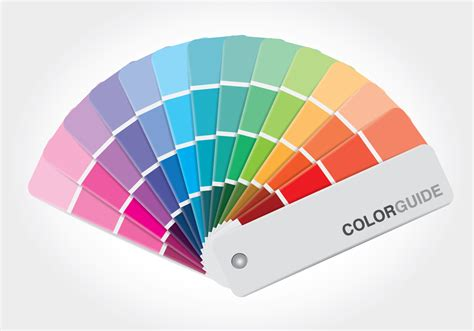 color guide color guide book vector free vector stock