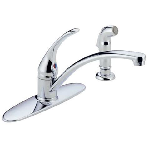 delta two handle kitchen faucet delta foundations 2 handle kitchen faucet chrome