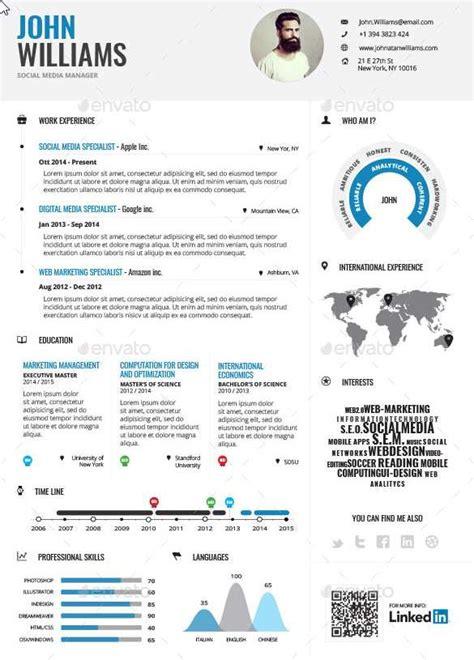 Plantilla De Curriculum Infografico Plantilla Para Cv Estilo Infograf 237 A Descargar Plantillas