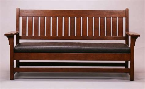 mission h pattern settle mission studio gustav stickley bench settle california historical design