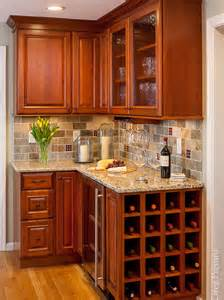 small traditional galley eat kitchen design photos with medium tone
