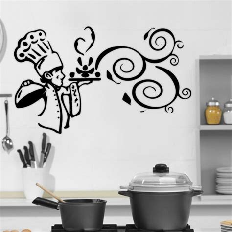 kitchen cook food quote wall stickers art dining room removable decals diy ebay