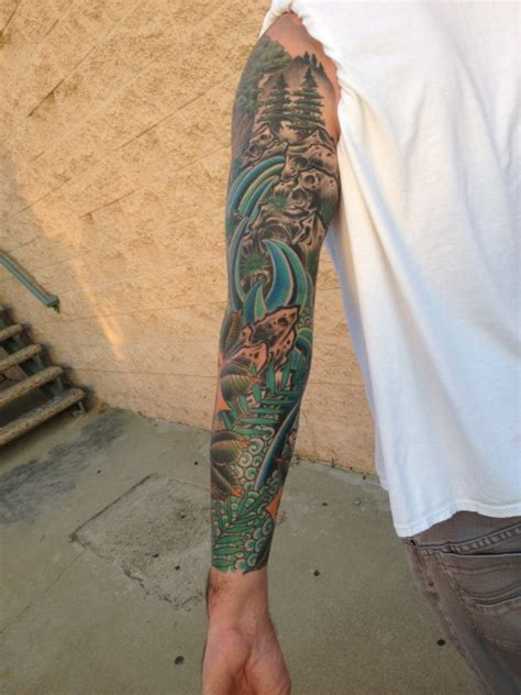 outdoor tattoo sleeves nature outdoor sleeve