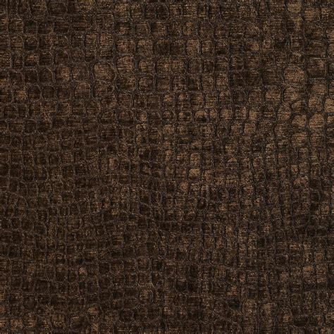 brown upholstery a0151f brown textured alligator shiny woven velvet