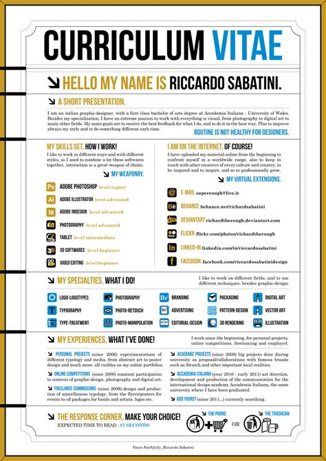 Resume Graphic Design Infographic How To Make An Infographic Resume
