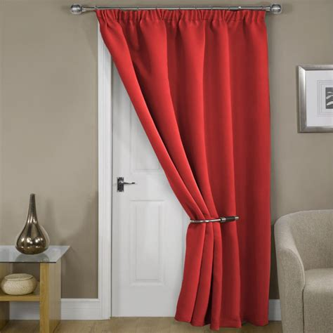 blackout door curtains blackout thermal red door curtain tony s textiles