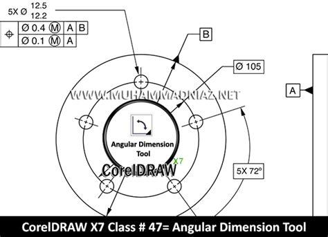 Angular Pattern Corel Draw | angular dimension tool in coreldraw x7 in urdu