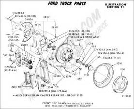 Brake System Components List Ford Truck Technical Drawings And Schematics Section B