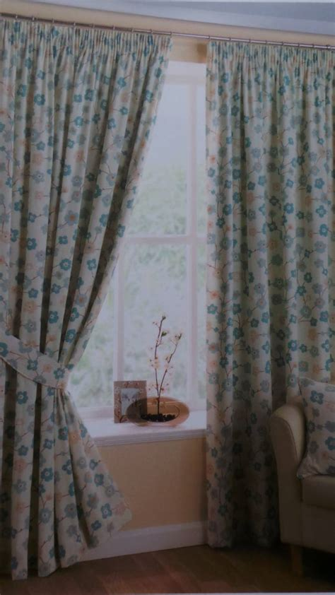 lined cotton curtains sakura duck egg 100 cotton curtains fully lined with option of eyelet or pencil pleat net