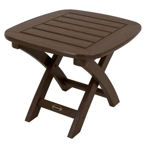 home depot side table hton bay niles park 18 in round cast top patio side