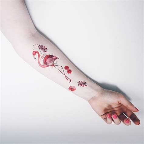 flamingo temporary tattoo paperself