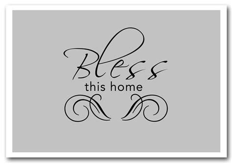 bless this home grey text quotes framed giclee print