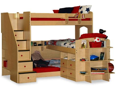 Three Person Bunk Beds with Bunk Bed Design Ideas Home Design Garden Architecture Magazine