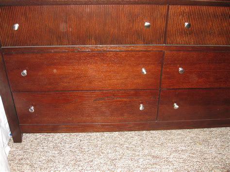 ethan allen dresser handles ethan allen s brown wood new 6 drawer dresser with silver