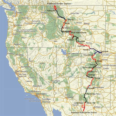 continental divide map continental divide tracks 2015 offwheelin adventure rider