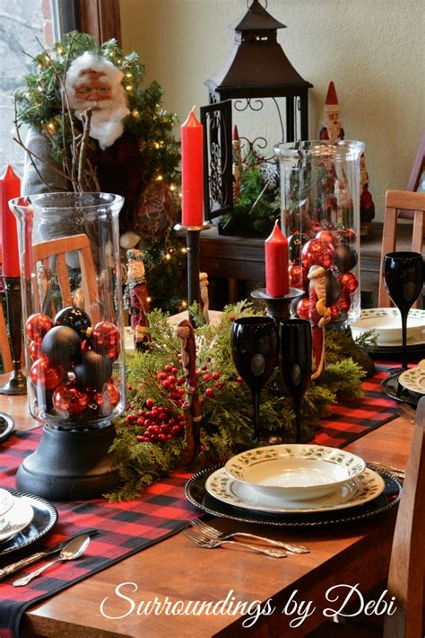 tablescape in and black