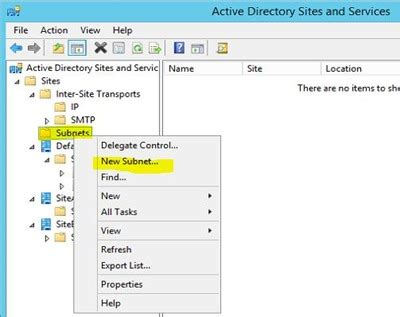 best site to new step by step setting up active directory subnets