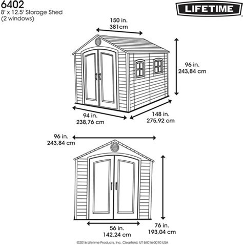 Lifetime Shed 6402 by Lifetime 8x12 Plastic Storage Shed 6402 W Floor More