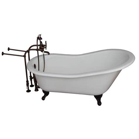cast iron bathtubs lowes shop barclay cast iron oval clawfoot bathtub with back