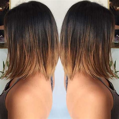 umbre angled bob hair cuts 15 popular brunette bob hairstyles short hairstyles 2017