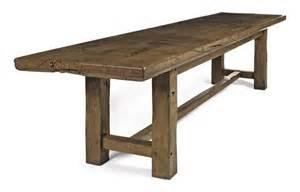 Large Farmhouse Table A Large French Oak Farmhouse Table Late 19th Century