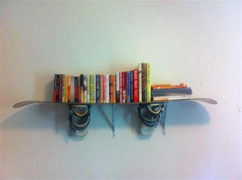 Snowboard Shelf by 10 Ways To Repurpose Your Ski Gear