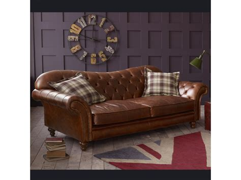 Brown Leather Vintage Sofa by The Crompton Vintage Brown Leather Chesterfield Sofa